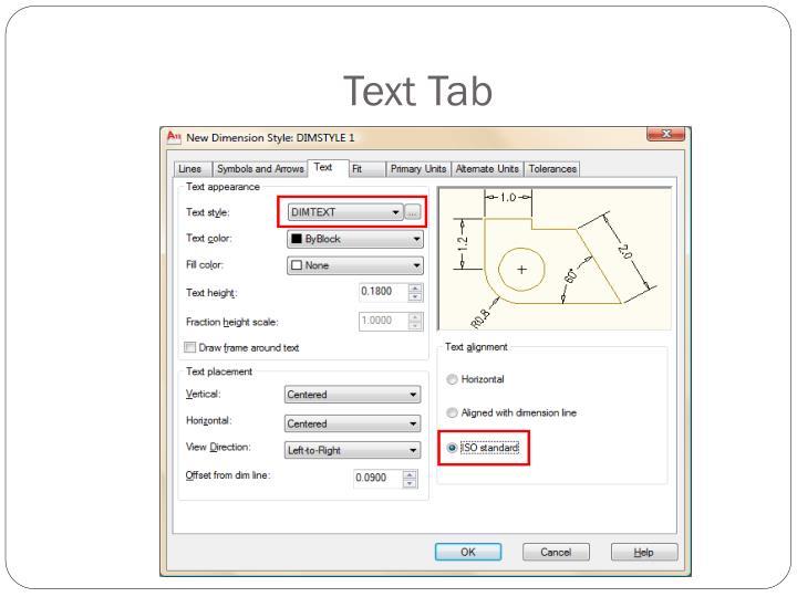Text Tab
