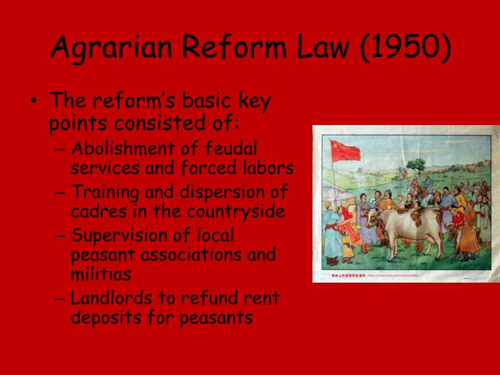 Agrarian Reform Law (1950)