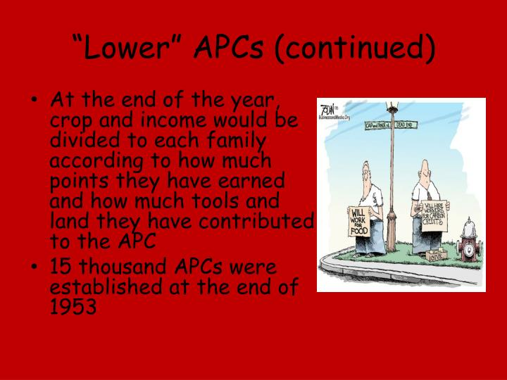 """Lower"" APCs (continued)"