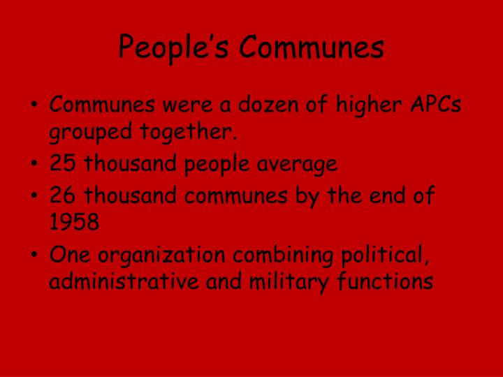 People's Communes