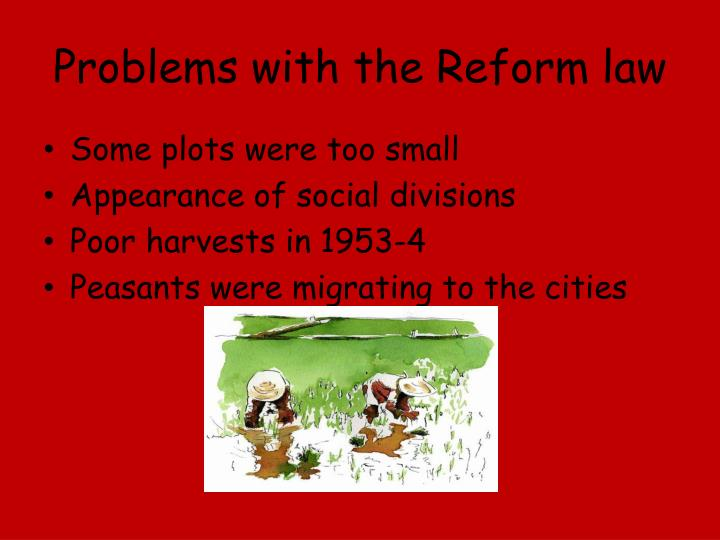 Problems with the Reform law