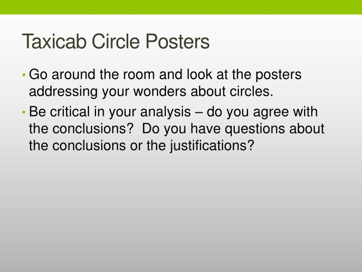 Taxicab Circle Posters