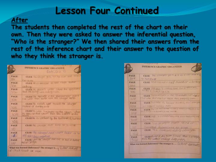 Lesson Four Continued