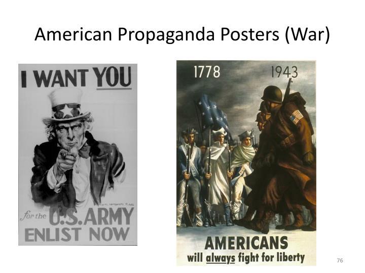 American Propaganda Posters (War)
