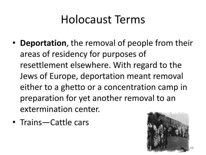 Holocaust Terms