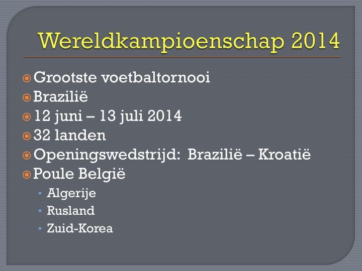 Wereldkampioenschap 2014