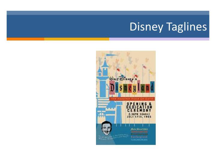 Disney Taglines