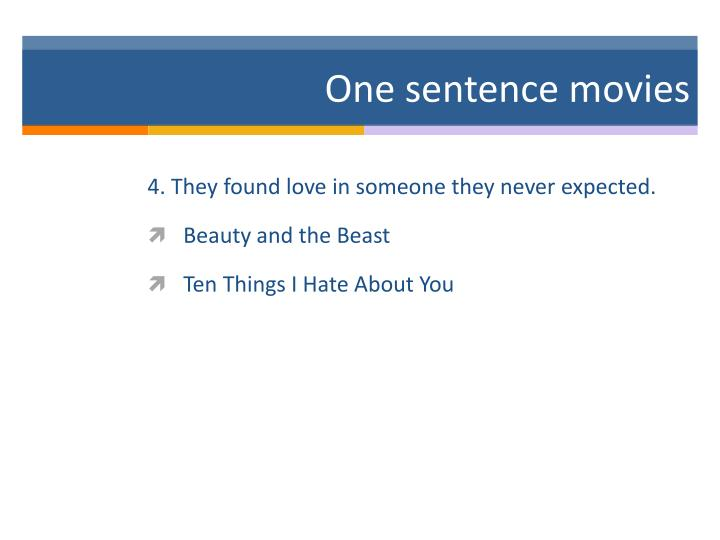 One sentence movies