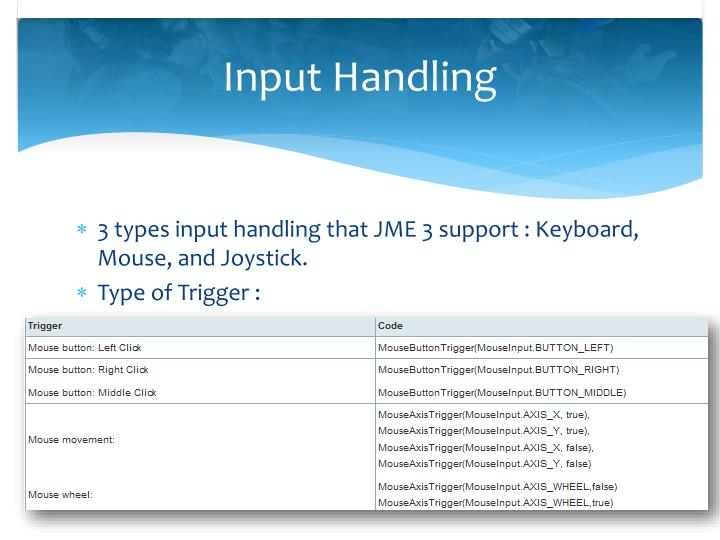 Input Handling