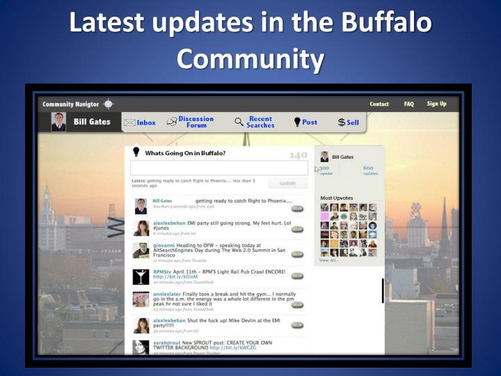 Latest updates in the Buffalo Community