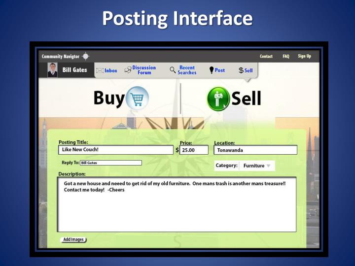 Posting Interface