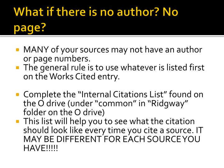 What if there is no author? No page?