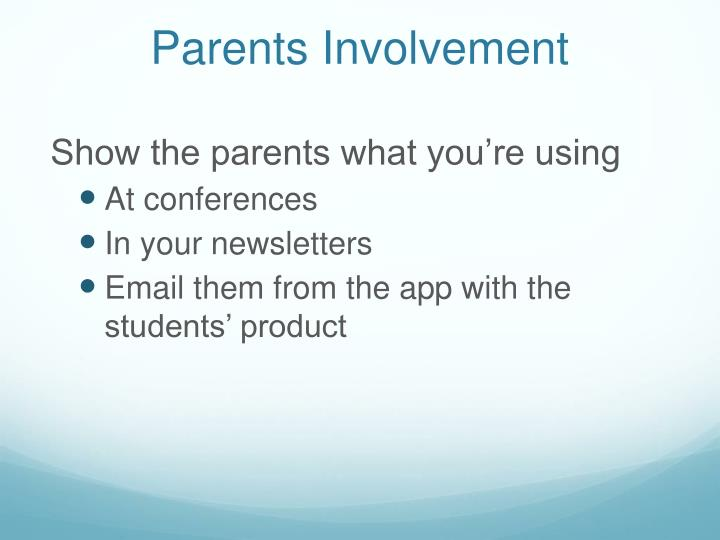 Parents Involvement