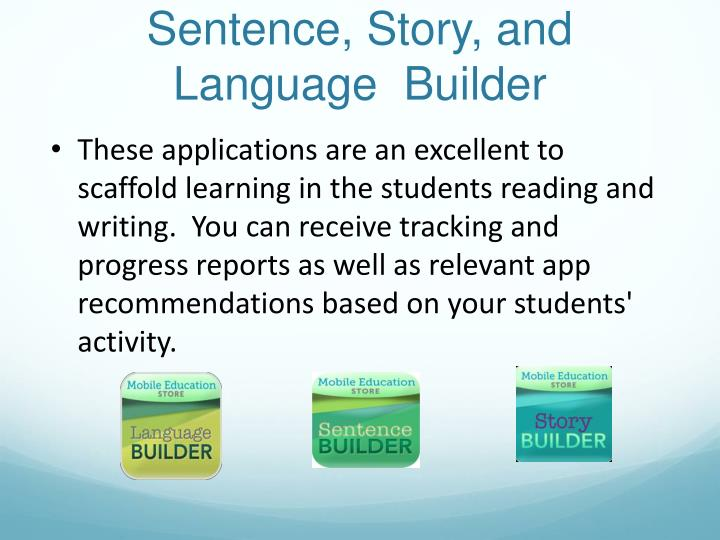 Sentence, Story, and Language  Builder