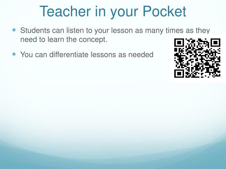 Teacher in your Pocket