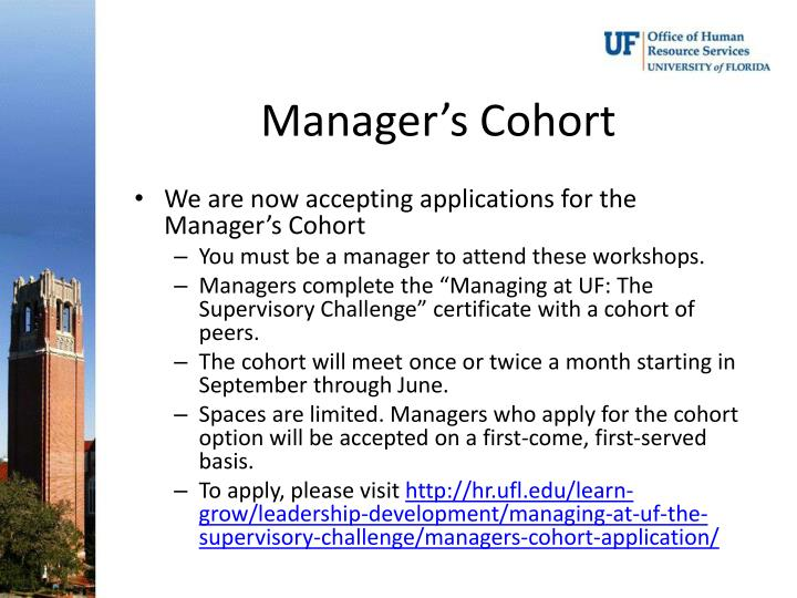 Manager's Cohort