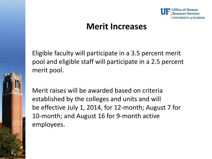 Merit Increases