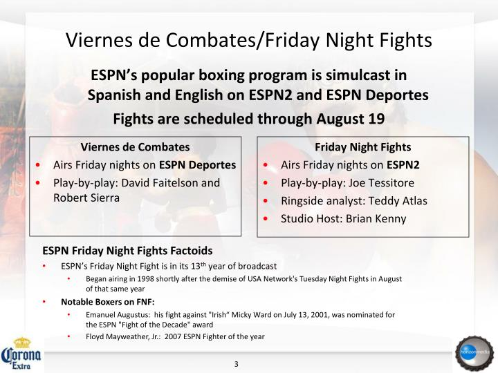 Viernes de combates friday night fights