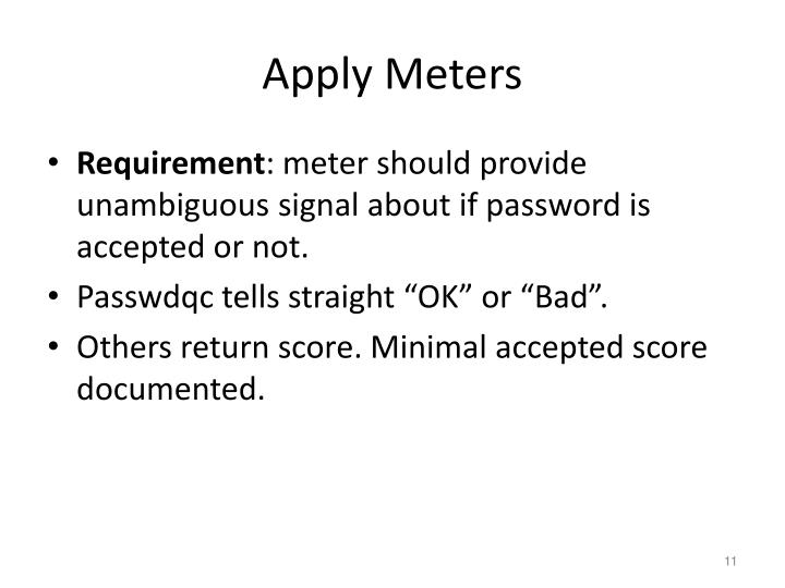 Apply Meters