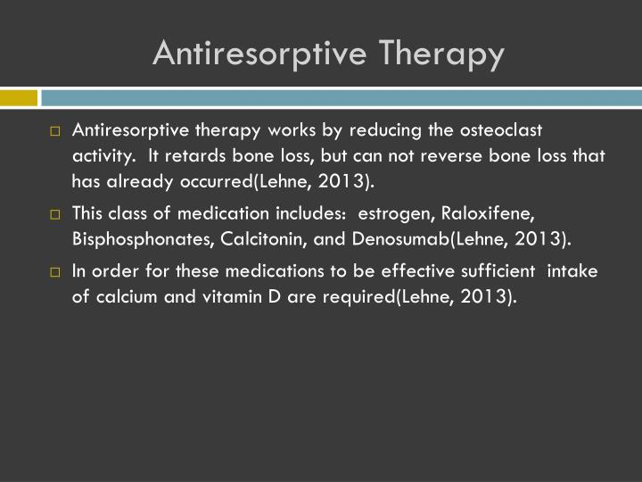 Antiresorptive Therapy