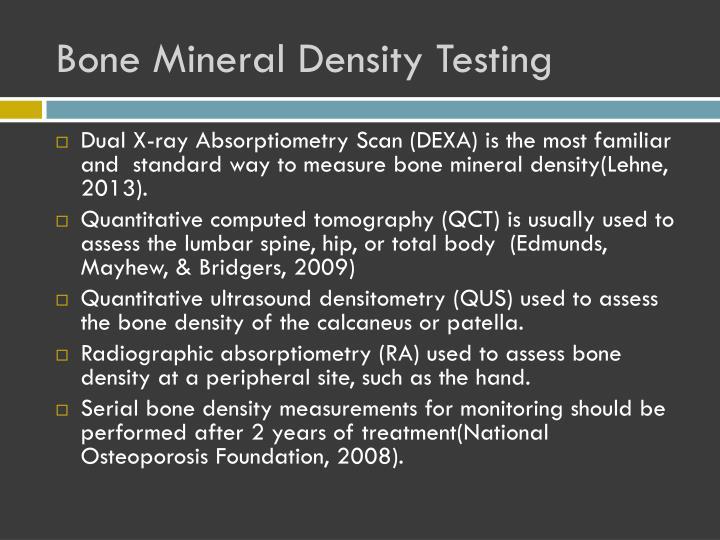 Bone Mineral Density Testing