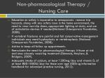 non pharmacological therapy nursing care2