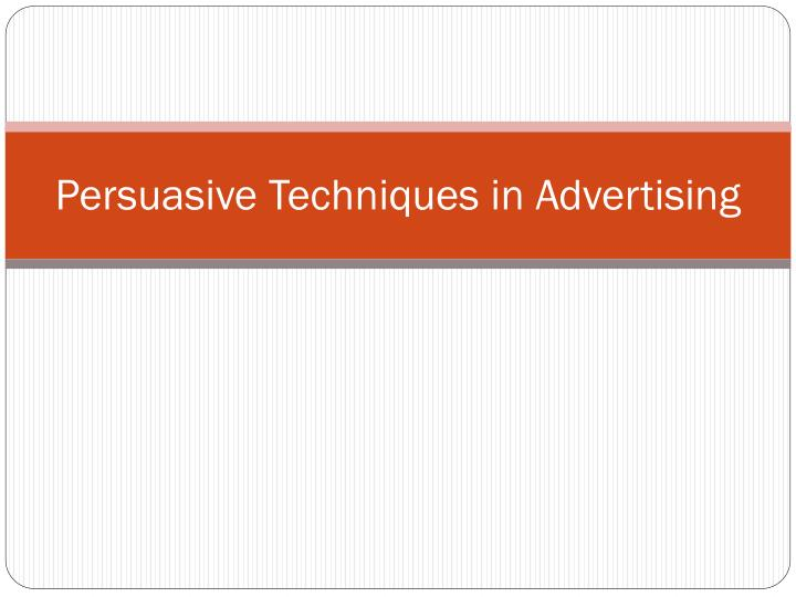 an analysis of the gulf news advertising techniques