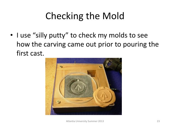 Checking the Mold