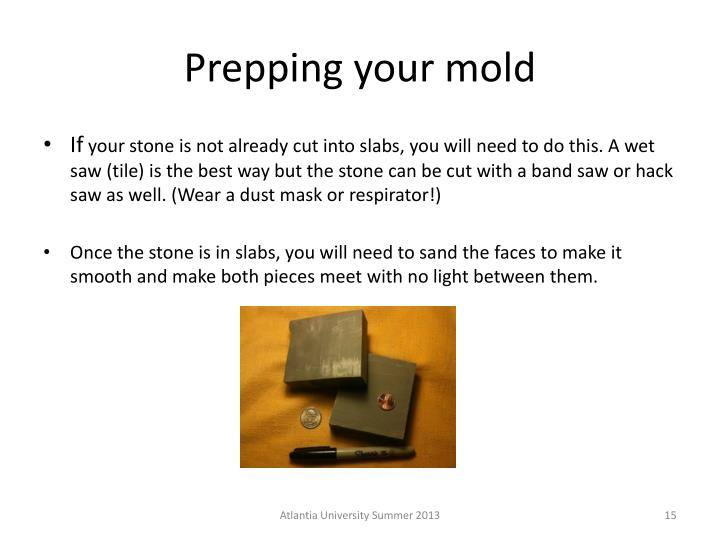 Prepping your mold