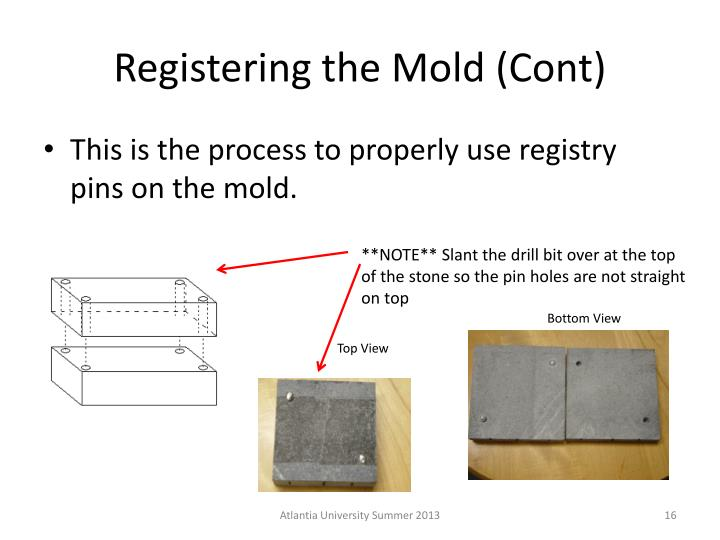Registering the Mold (Cont)