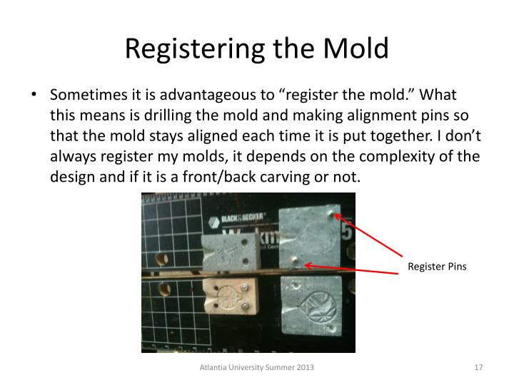 Registering the Mold