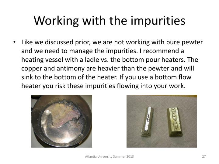 Working with the impurities