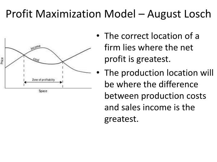 Profit Maximization Model – August