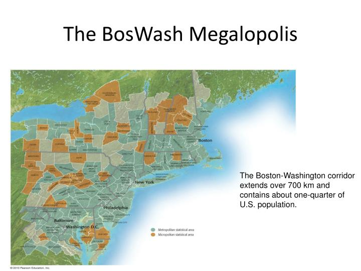 The BosWash Megalopolis