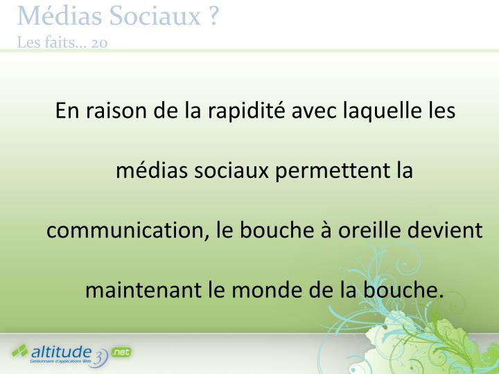 Médias Sociaux ?