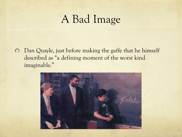 A Bad Image