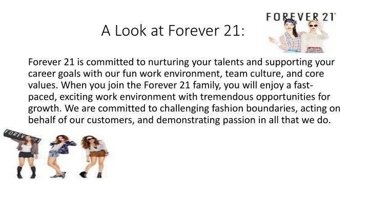 A Look at Forever 21: