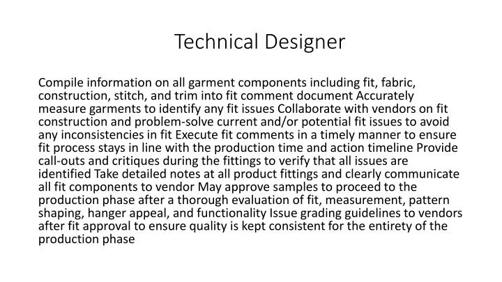 Technical Designer