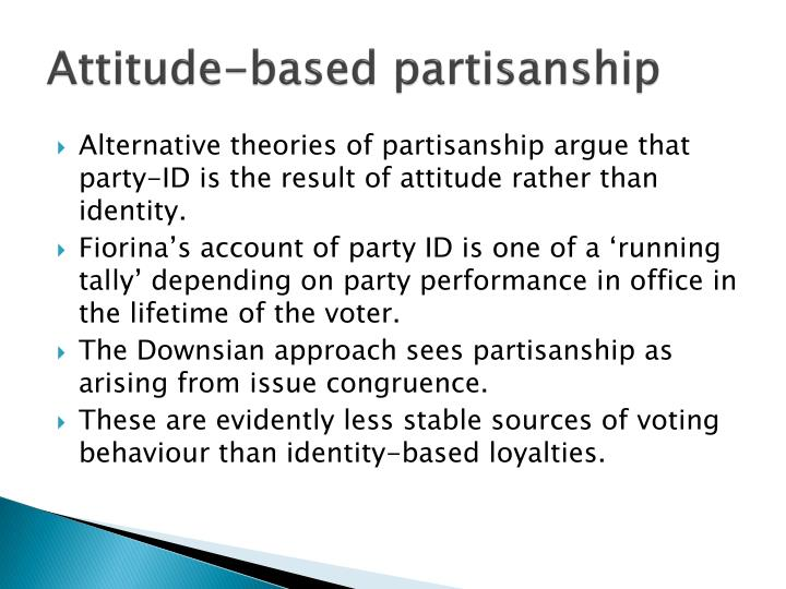 Attitude-based partisanship