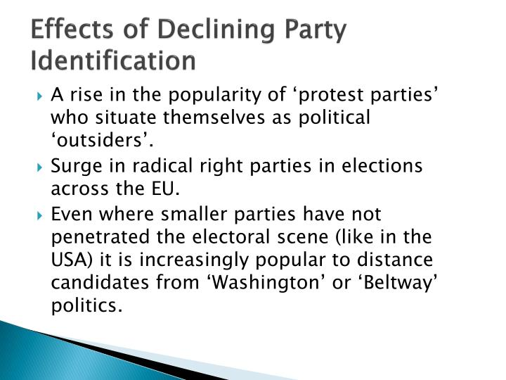 Effects of Declining Party Identification