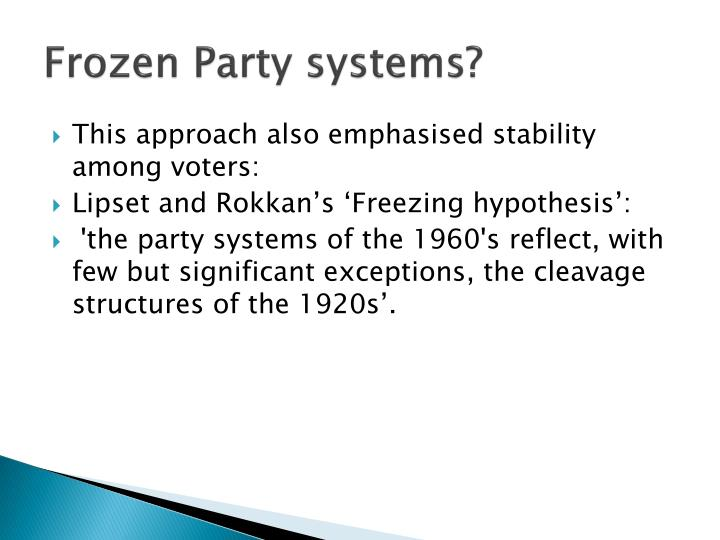 Frozen Party systems?