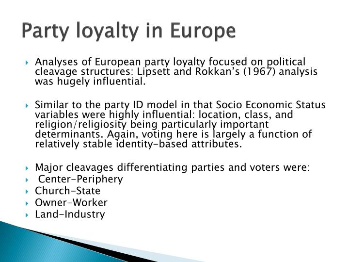 Party loyalty in Europe