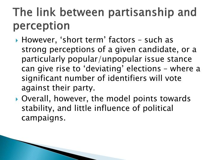The link between partisanship and perception