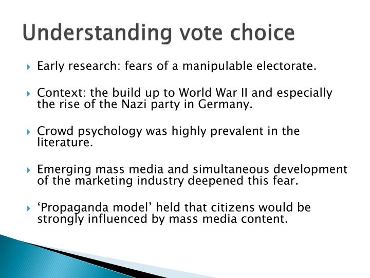 Understanding vote choice