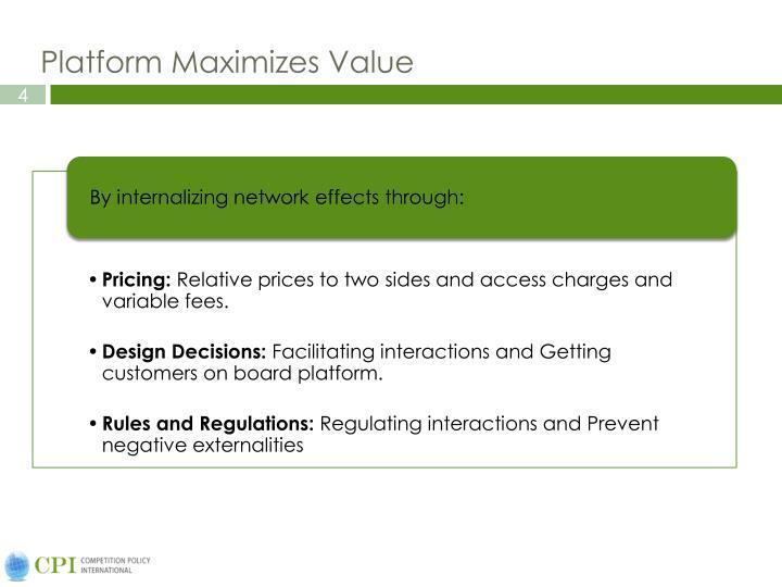 Platform Maximizes Value