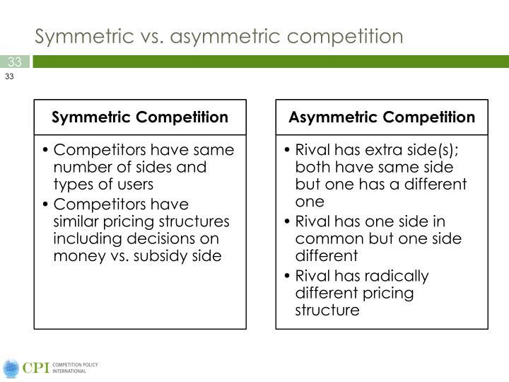 Symmetric vs.
