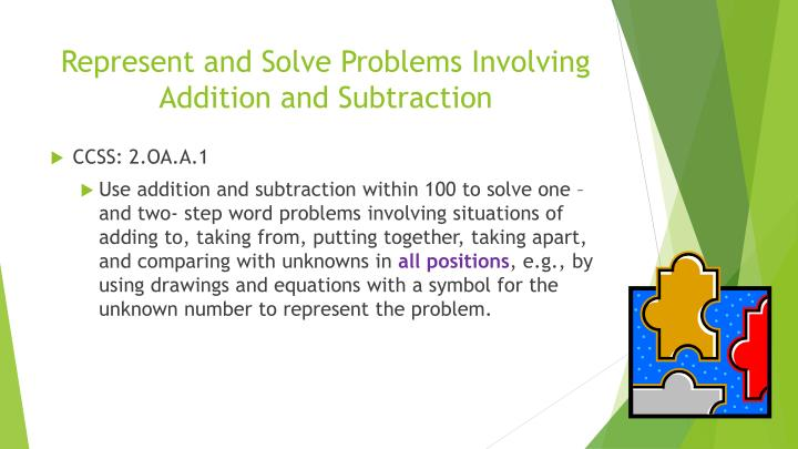 Represent and Solve Problems Involving Addition and Subtraction