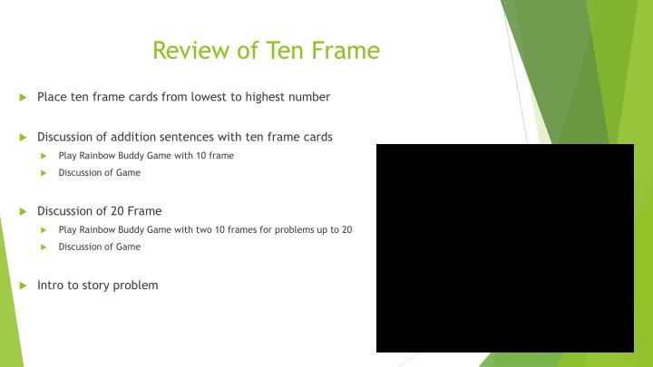Review of Ten Frame