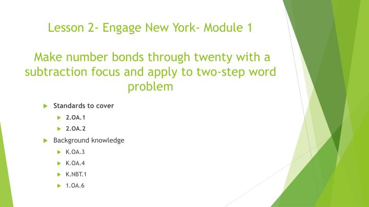 Lesson 2- Engage New York- Module 1