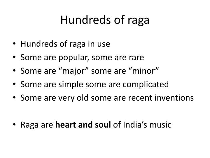 Hundreds of raga